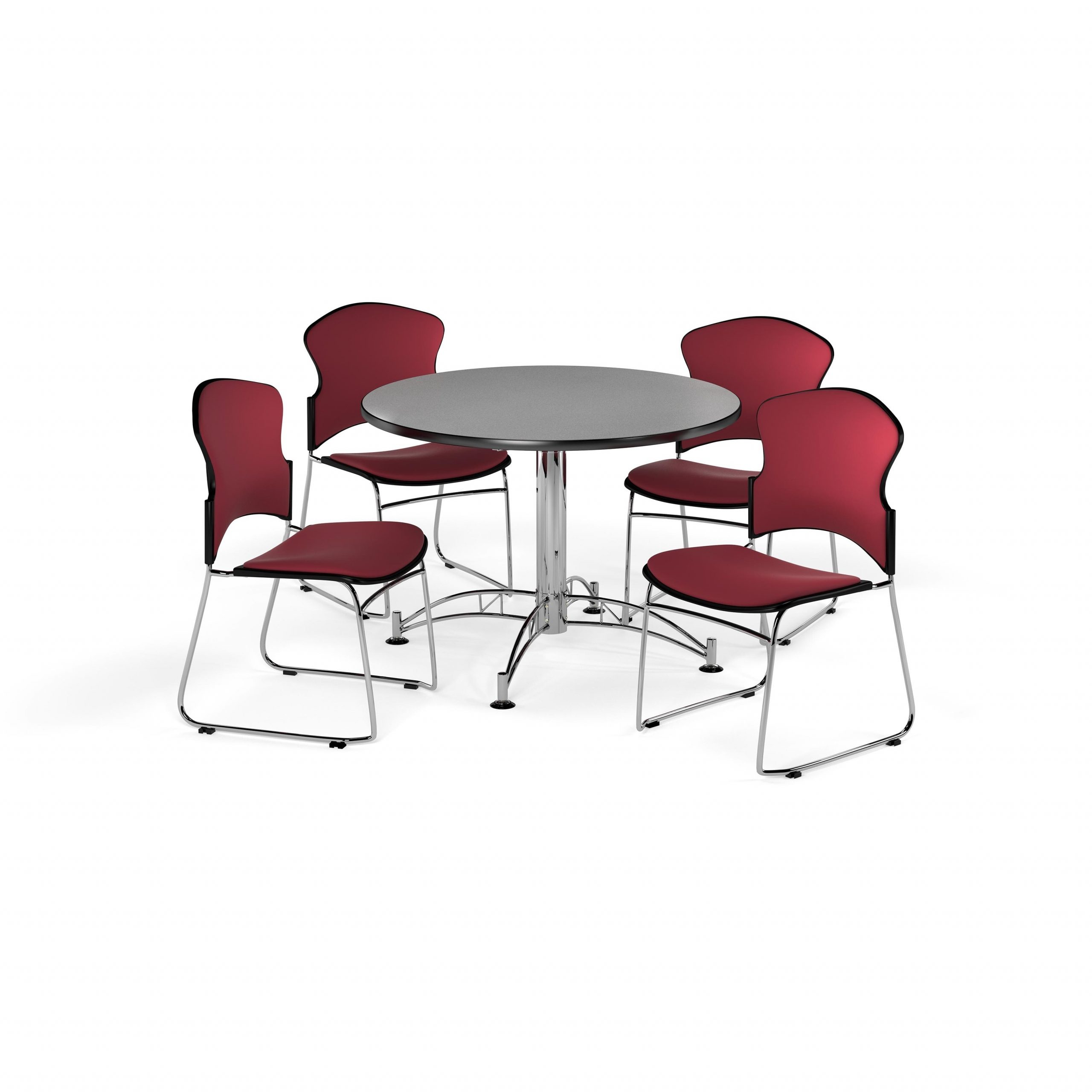 Ofm Gray 42 Inch Round Break Room Multi Purpose Table With For Most Up To Date Mode Round Breakroom Tables (View 7 of 15)