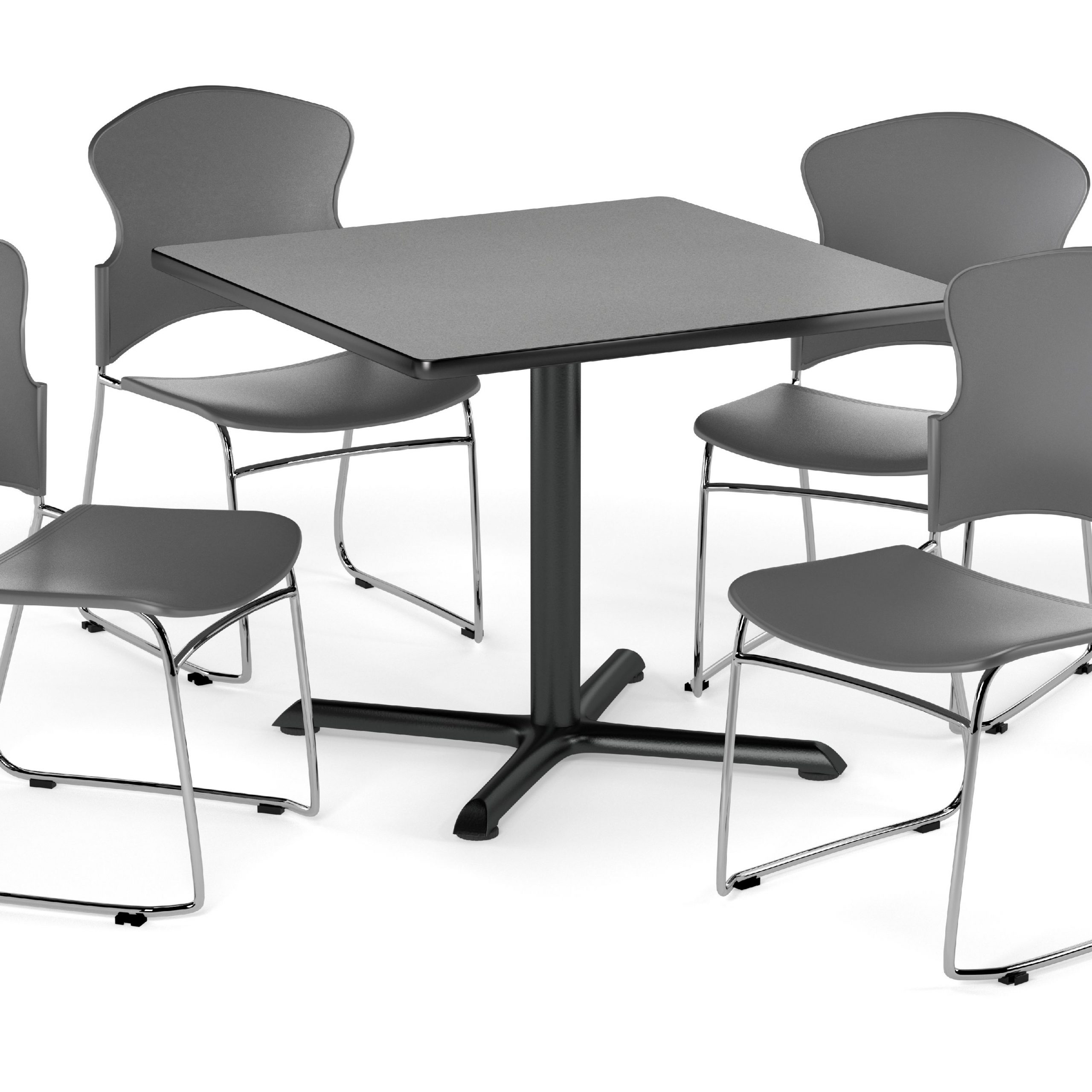 """Ofm Multi Use Break Room Package, 42"""" Square Table With Inside Recent Mode Square Breakroom Tables (View 6 of 15)"""