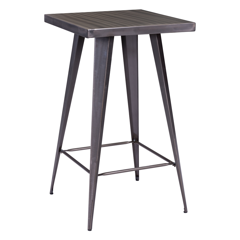 """Olympia Bar Table Gunmetal With Regard To Most Current Bentham 47"""" L Round Stone Breakroom Tables (View 15 of 15)"""