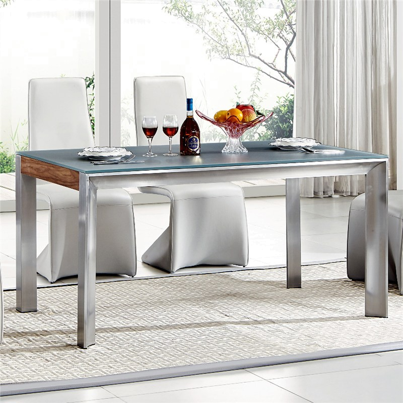 Omarosa Glass Top 180Cm Dining Table (Table Only) Intended For Most Popular Adejah 35'' Dining Tables (View 14 of 15)
