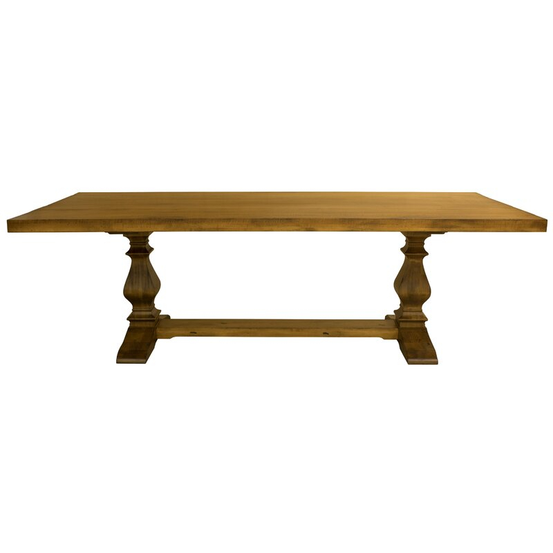 One Allium Way® Balduíno Maple Extendable Solid Wood Pertaining To 2017 Drake Maple Solid Wood Dining Tables (View 6 of 15)