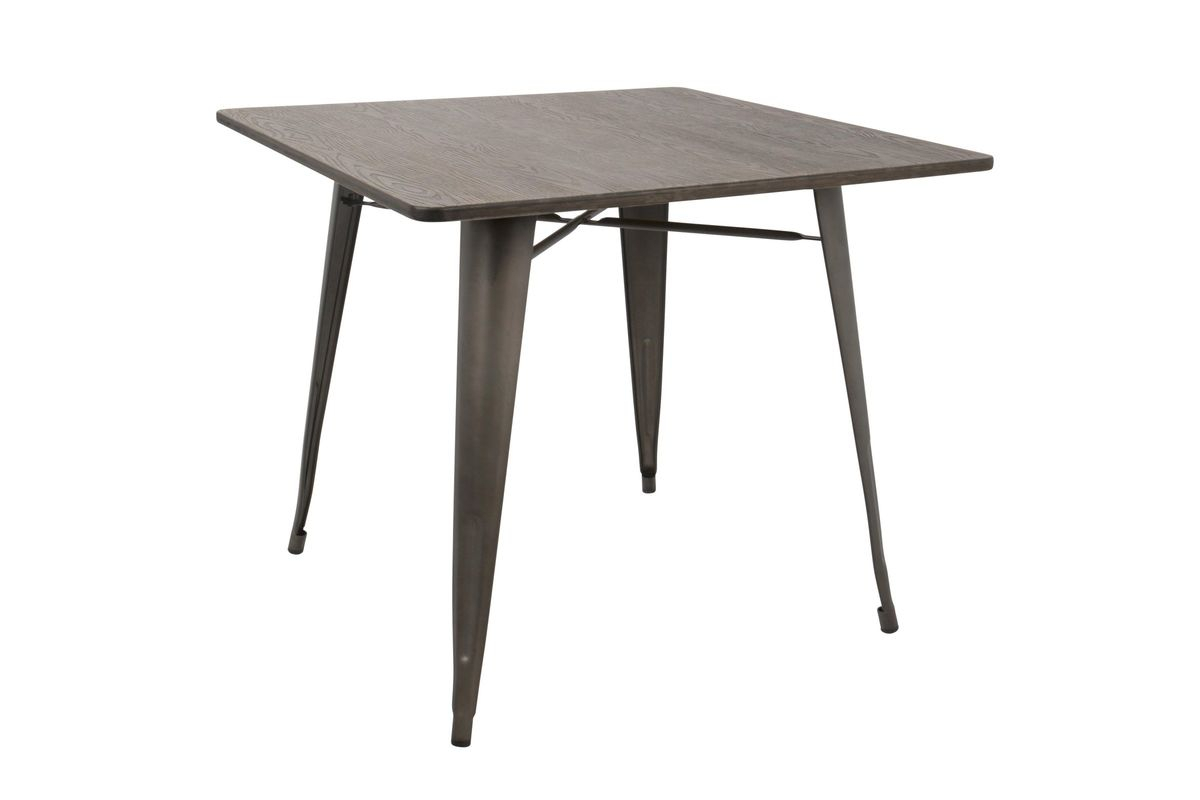 """Oregon 36"""" Industrial Farmhouse Dining Table In Antique In Current Menifee 36'' Dining Tables (View 6 of 15)"""