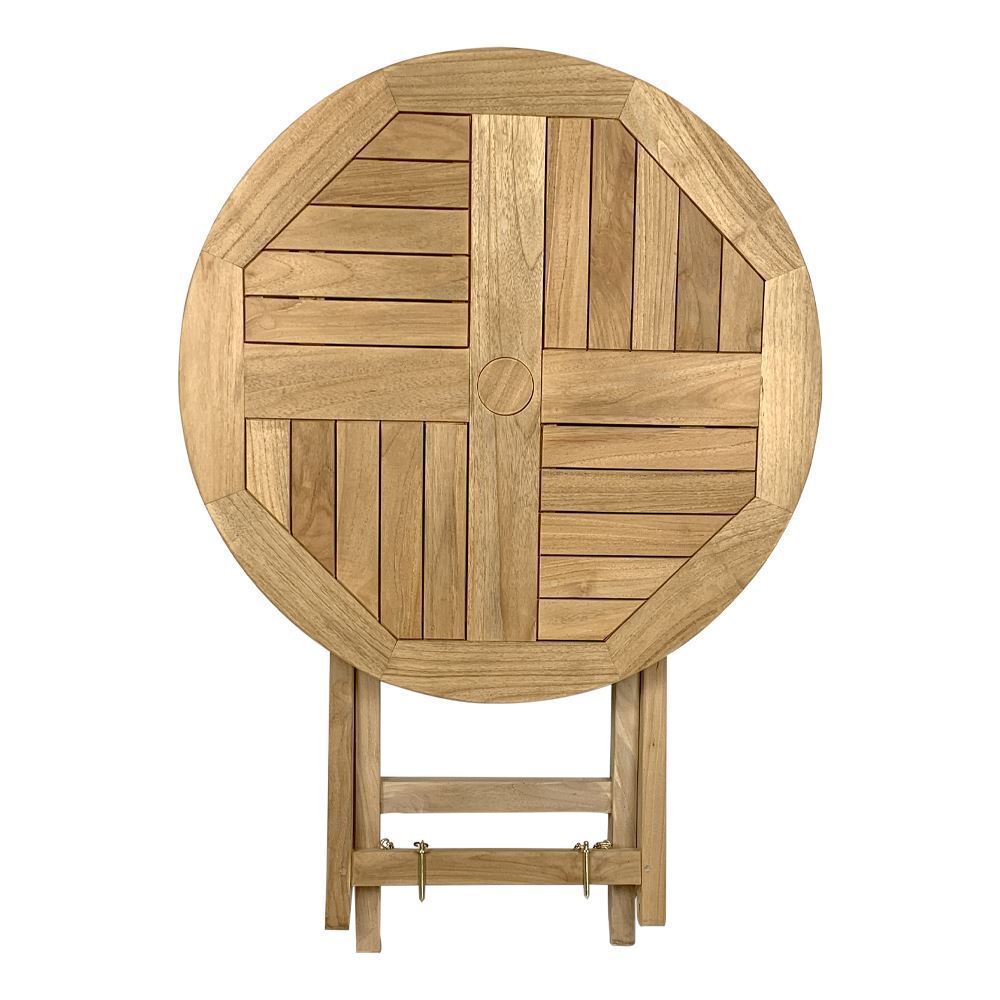 Outdoor Furniture Solid Teak Folding Table Round In Newest Sapulpa (View 9 of 15)