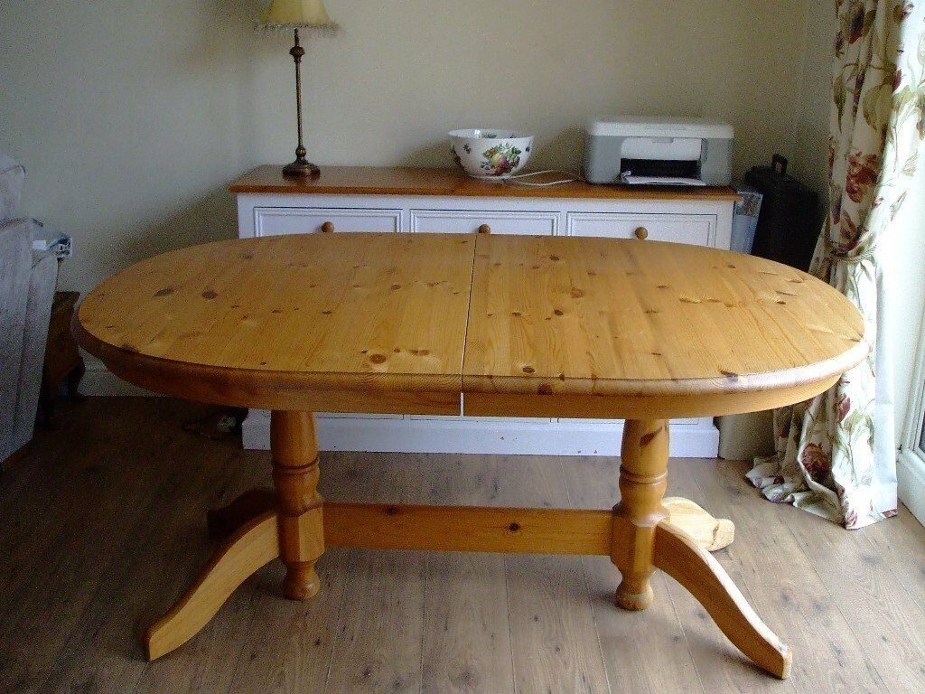 Oval, Extending, Solid Pine, Dining Room Table   In Regarding Most Popular Reagan Pine Solid Wood Dining Tables (View 8 of 15)