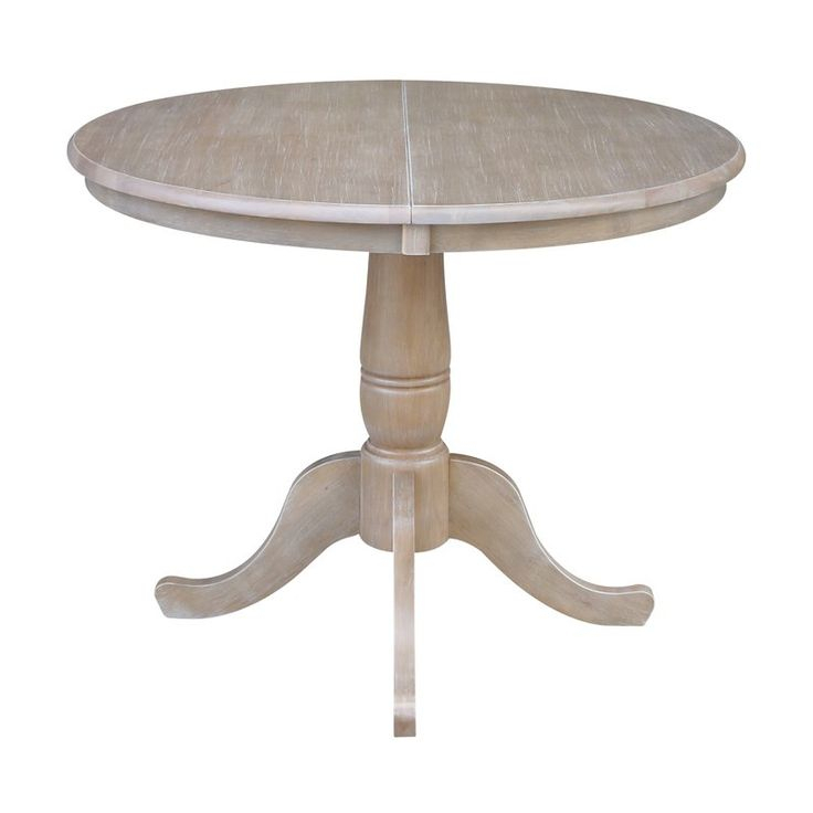 Overbay Extendable Solid Wood Dining Table   Dining Table Pertaining To Recent Boothby Drop Leaf Rubberwood Solid Wood Pedestal Dining Tables (View 2 of 15)