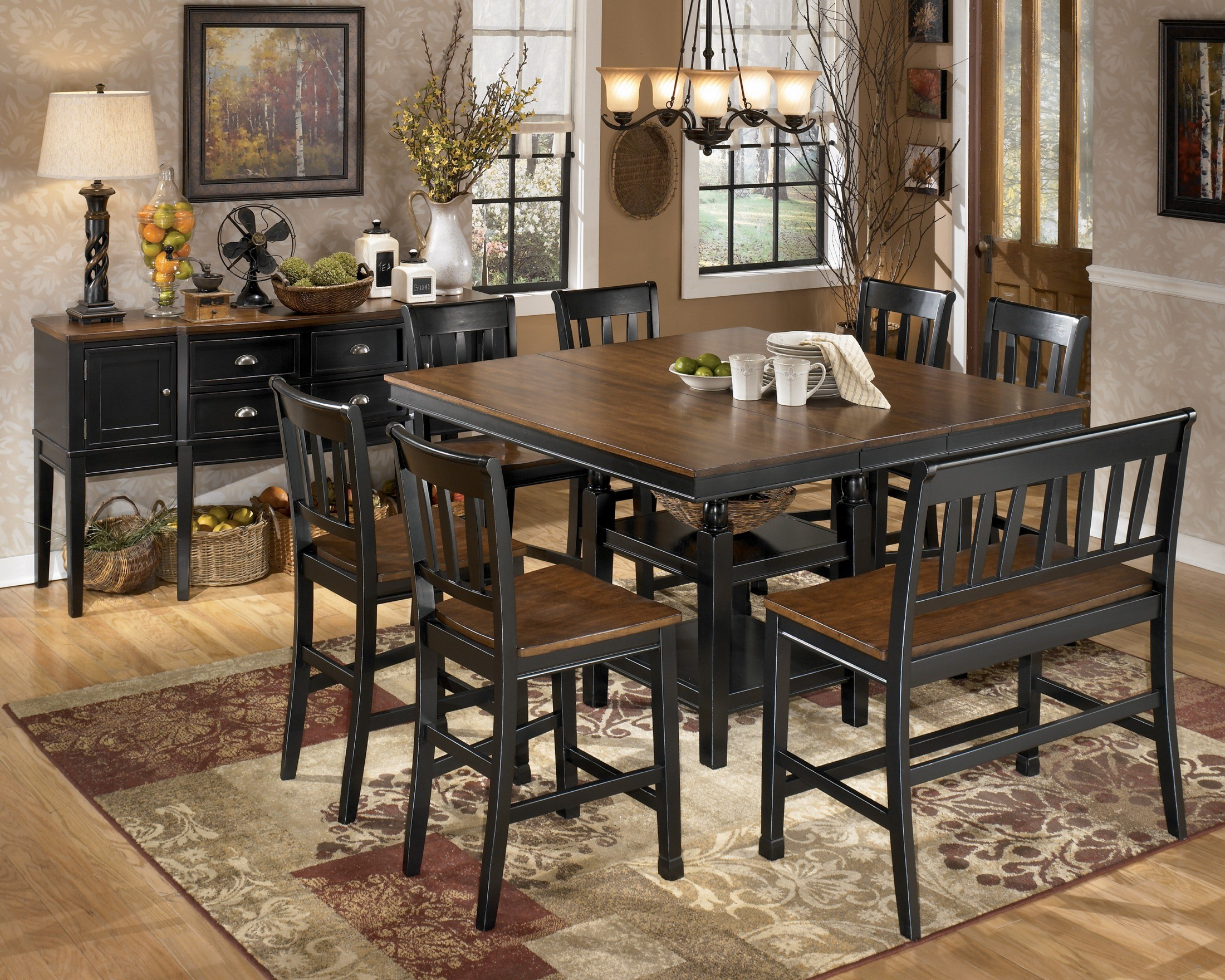 Owingsville Square Counter Height Extendable Table From With 2018 Hearne Counter Height Dining Tables (View 3 of 15)