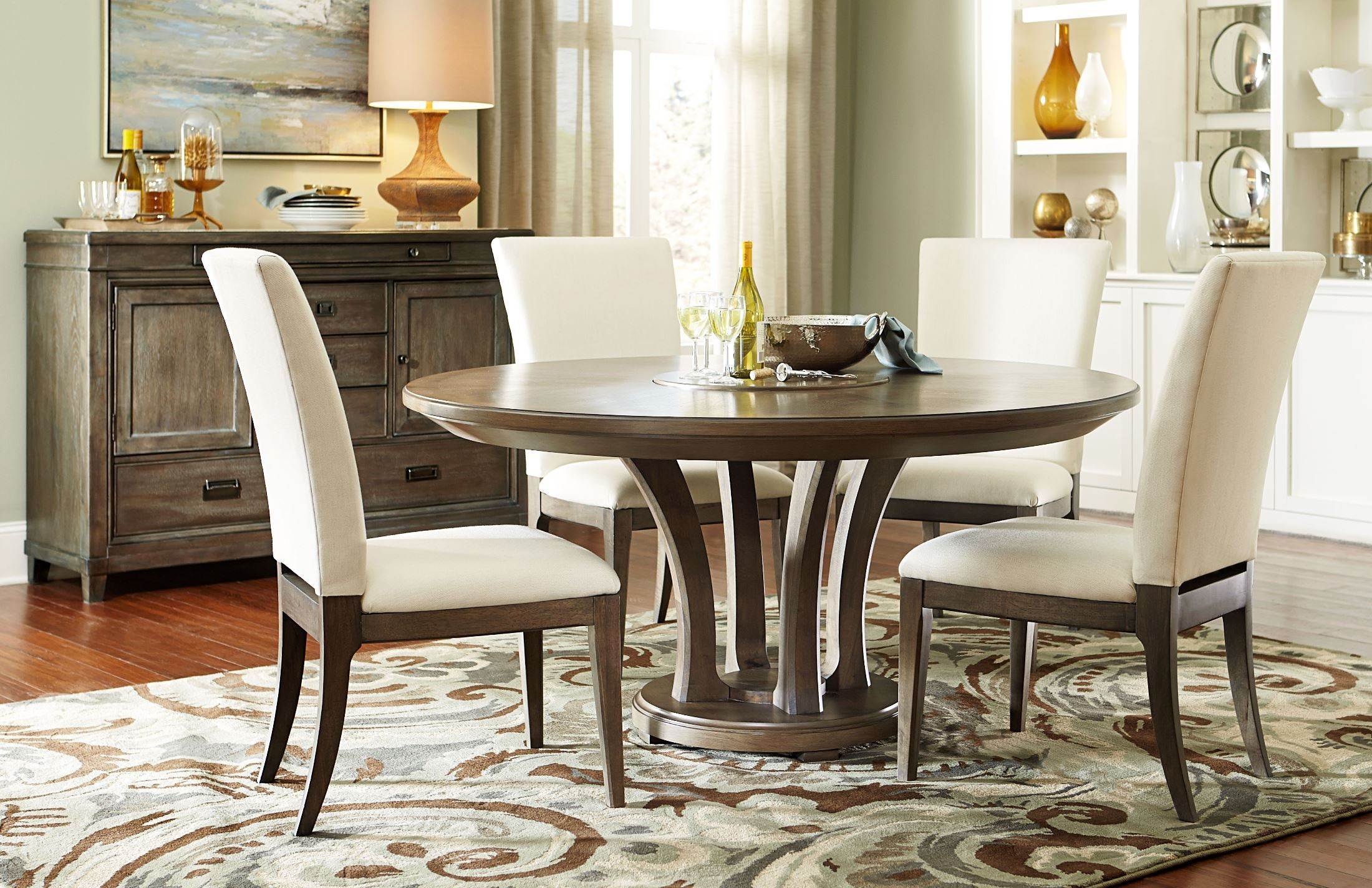 """Park Studio Weathered Taupe 62"""" Round Dining Table From In Best And Newest Corrigan Studio Fawridge Dining Tables (View 11 of 15)"""