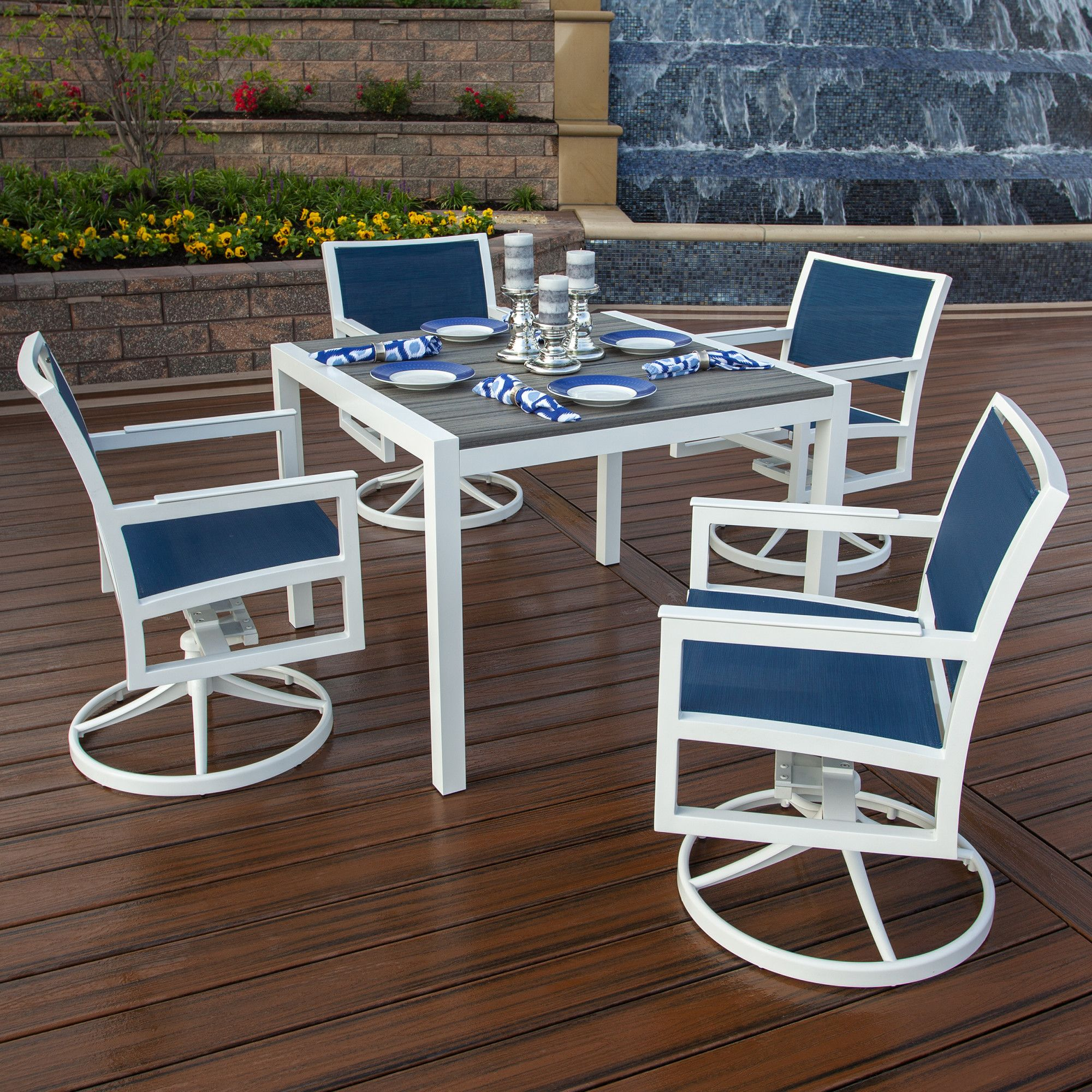 Parsons 5 Piece Dining Set   Patio Dining Set, 5 Piece Pertaining To Recent Nottle (View 15 of 15)