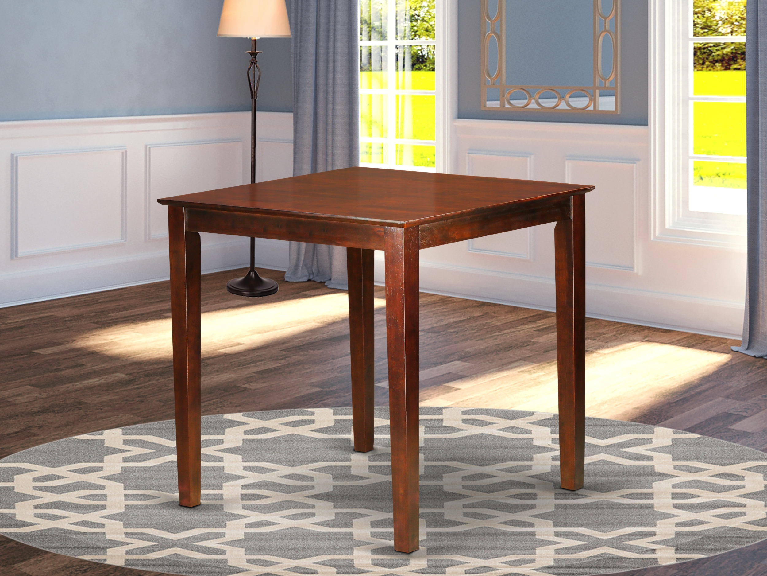 Pbt Brn T 36″ Square Counter Height Pub Set Table In Dark Pertaining To Newest Menifee 36'' Dining Tables (View 4 of 15)