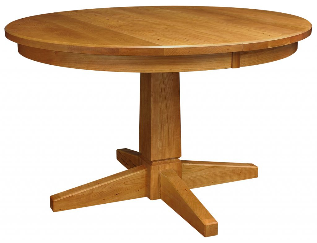 Peacham Pedestal Extension Table Intended For Most Recently Released Gaspard Extendable Maple Solid Wood Pedestal Dining Tables (View 2 of 15)