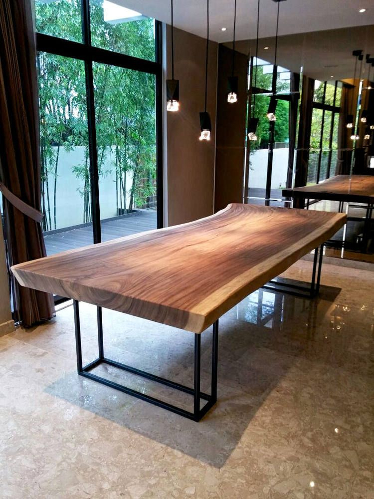 Pin On Natural Edge Wood Ideas Regarding Latest Keown 43'' Solid Wood Dining Tables (View 10 of 15)