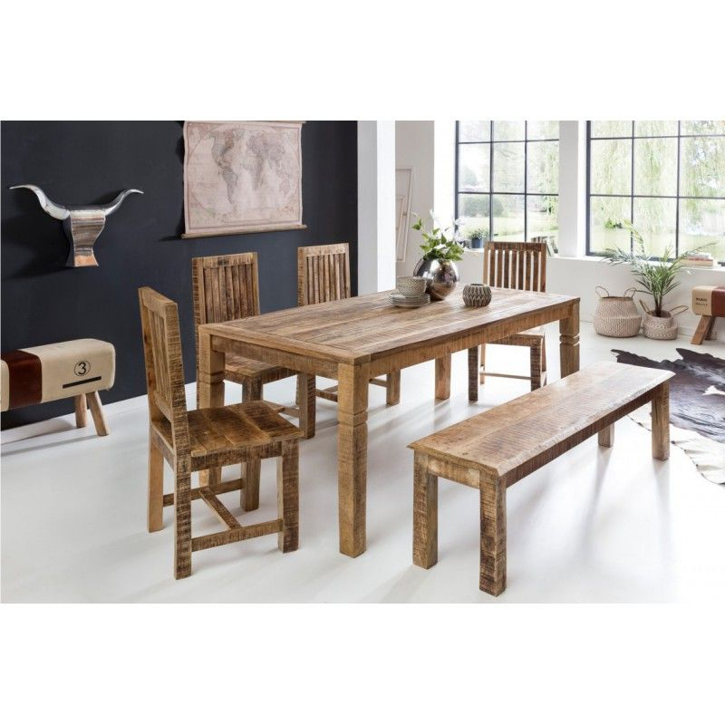 Pin On Solid Wood Dining Tables Throughout Best And Newest Alfie Mango Solid Wood Dining Tables (View 11 of 15)