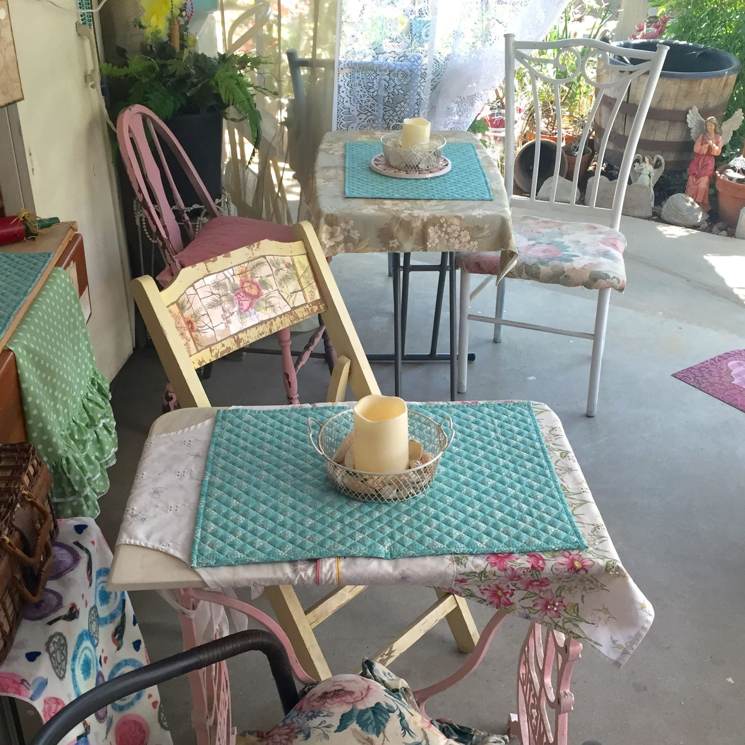Pinlaurie Garrison On Rustic Girly Patio Spot | Shabby In Most Current Mode Breakroom Tables (View 9 of 15)
