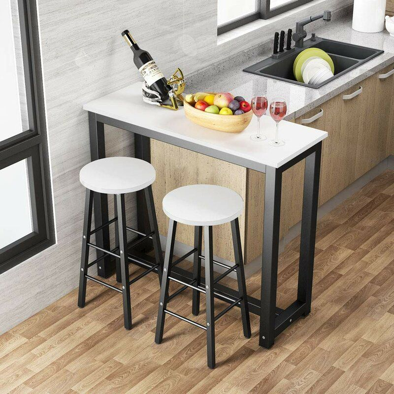 Plainfield 3 Piece Pub Table Set In 2020 | Pub Table Sets With Regard To Best And Newest Midtown Solid Wood Breakroom Tables (View 11 of 15)