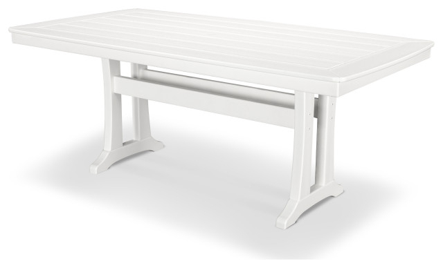 """Polywood Nautical Trestle 38"""" X 73"""" Dining Table – Beach Throughout Most Up To Date Alexxia 38'' Trestle Dining Tables (View 12 of 15)"""