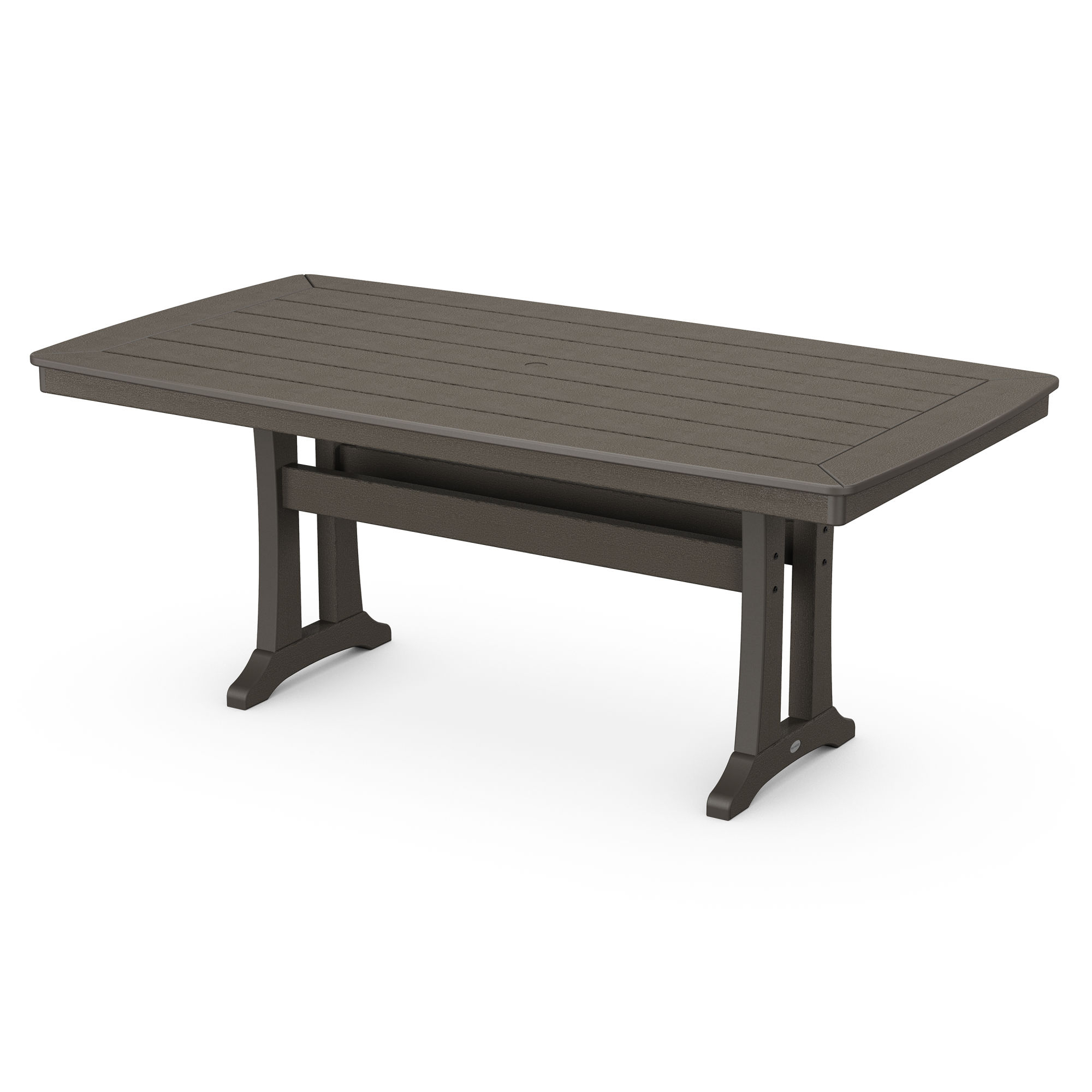 """Polywood® Nautical Trestle 38"""" X 73"""" Dining Table In With Most Recently Released Alexxia 38'' Trestle Dining Tables (View 8 of 15)"""