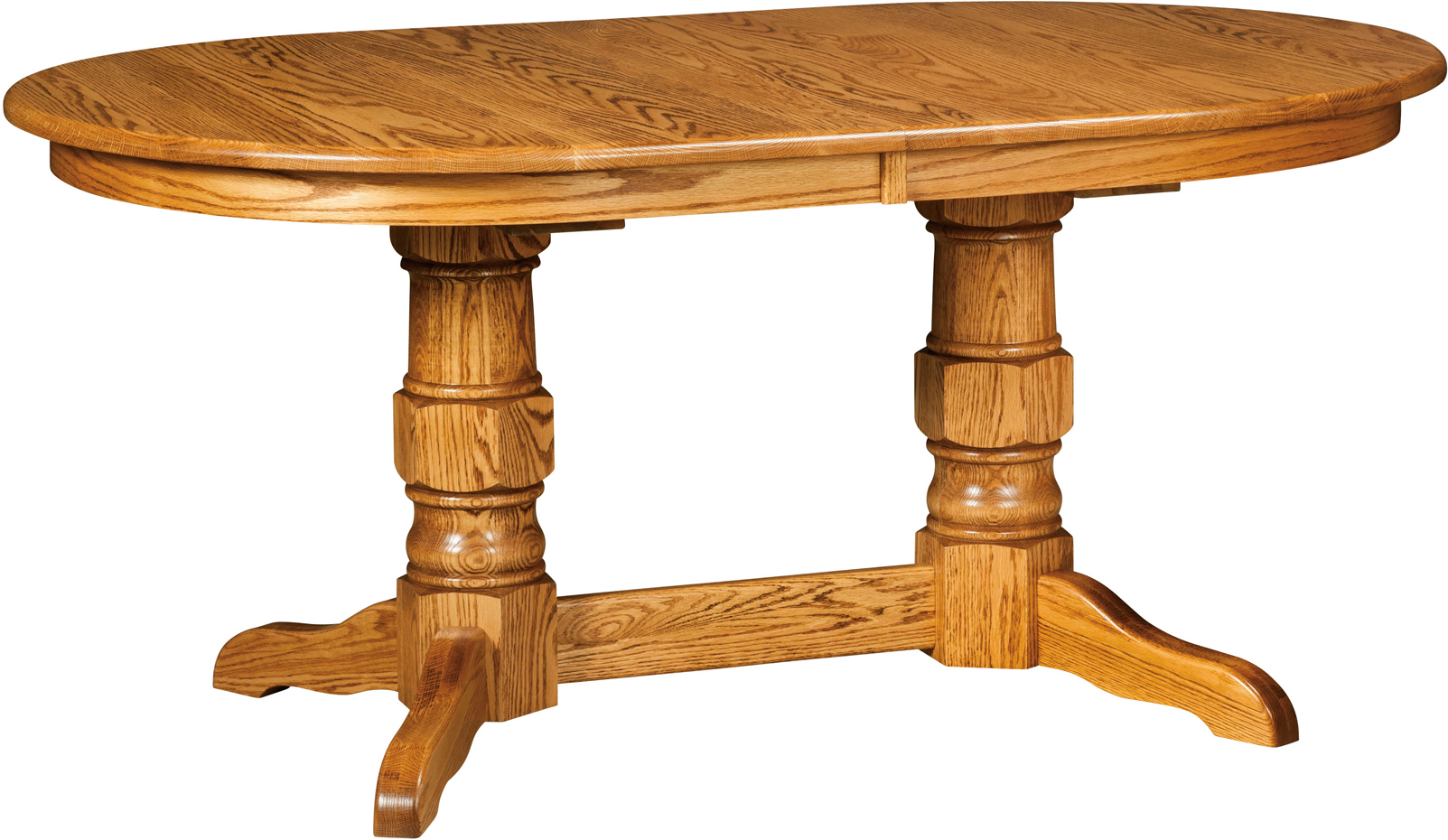 Preston Double Pedestal Table | Amish Preston Double In Most Recent 28'' Pedestal Dining Tables (View 15 of 15)