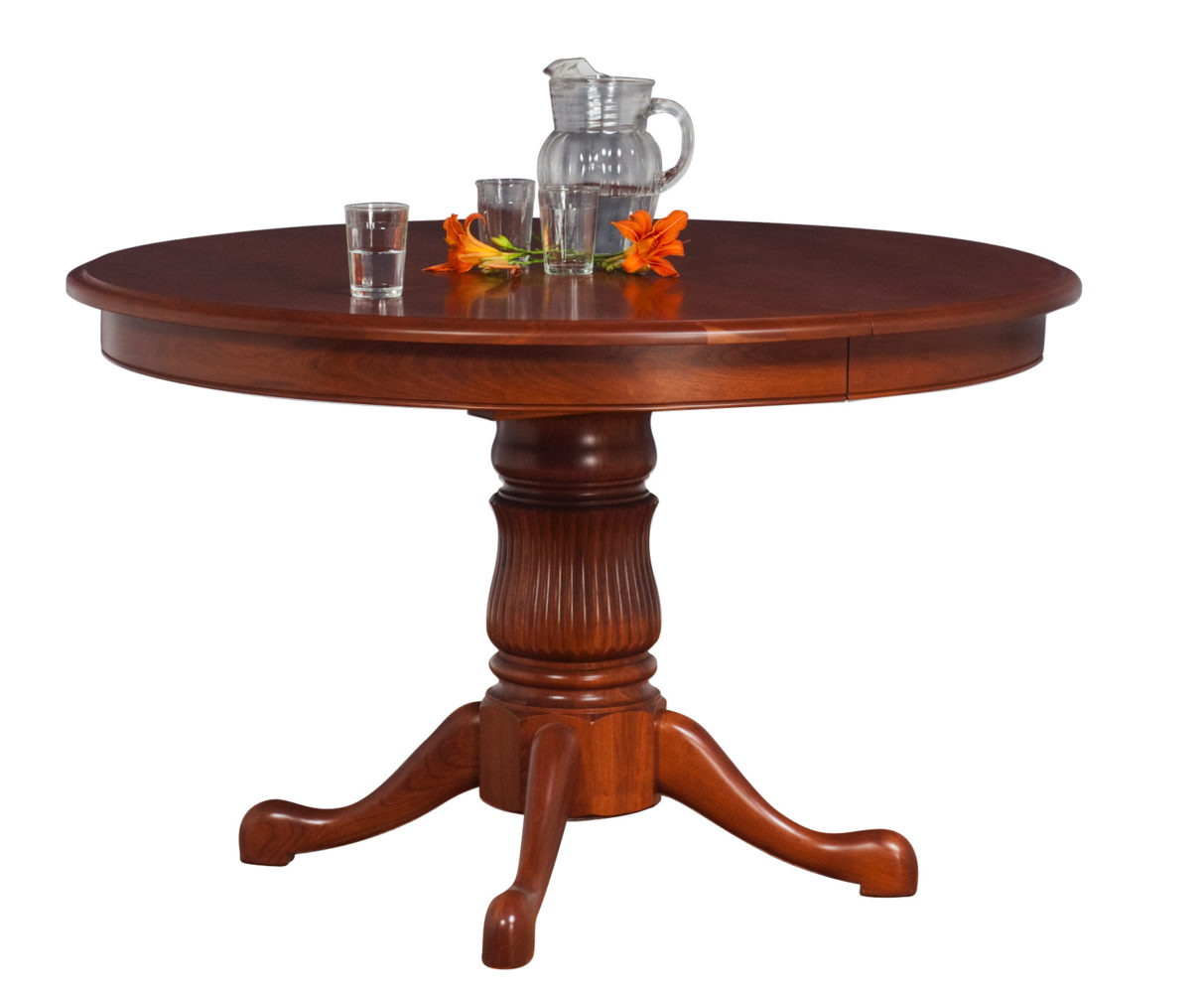 Princeton Single Pedestal Table | Martin'S Furniture Inside Latest Gaspard Maple Solid Wood Pedestal Dining Tables (View 10 of 15)
