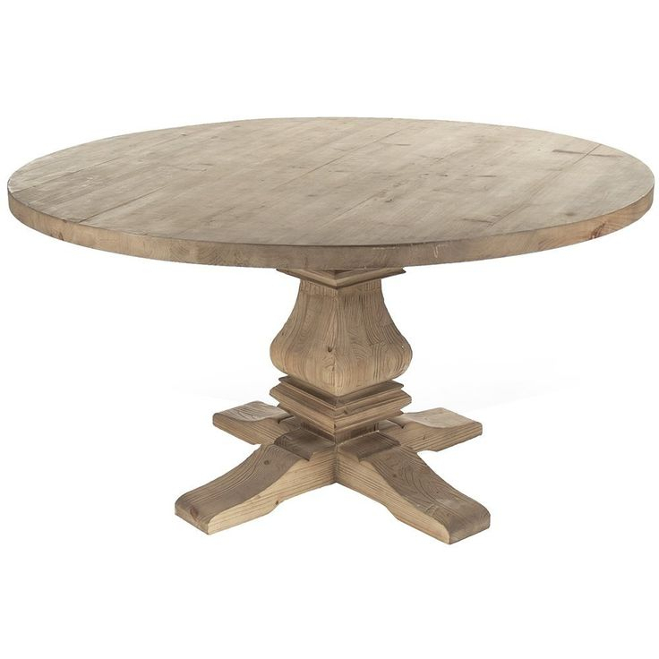 Provence Round Pedestal Dining Table In 2020 | Round Throughout 2017 Bineau 35'' Pedestal Dining Tables (View 6 of 15)