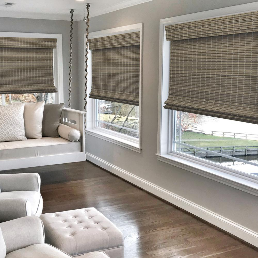 Radiance Driftwood Gray Cordless Semi Private Flat Bamboo Inside 2017 Drift  (View 6 of 15)