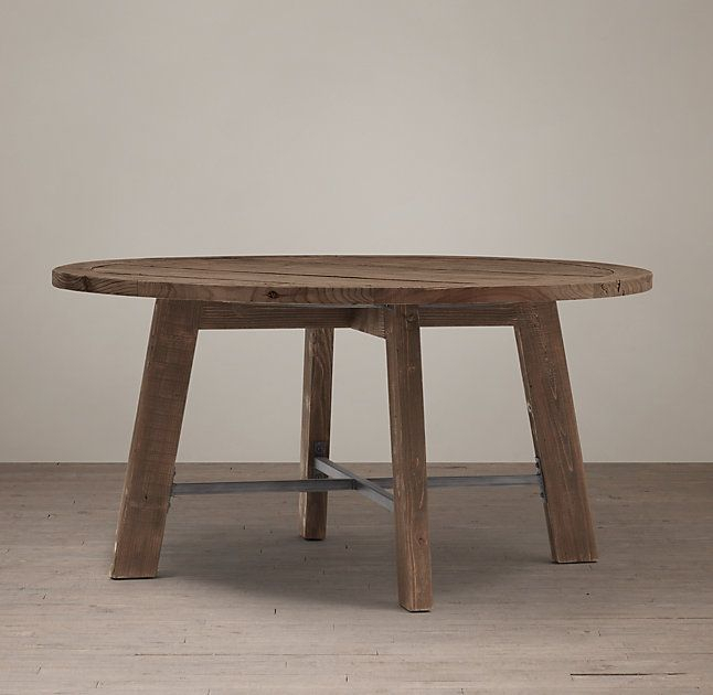 Railway Trestle Round Dining Table   Round Dining Table With Recent Leonila 48'' Trestle Dining Tables (View 3 of 15)