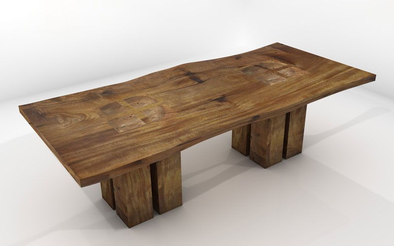 Featured Image of Aulbrey Butterfly Leaf Teak Solid Wood Trestle Dining Tables