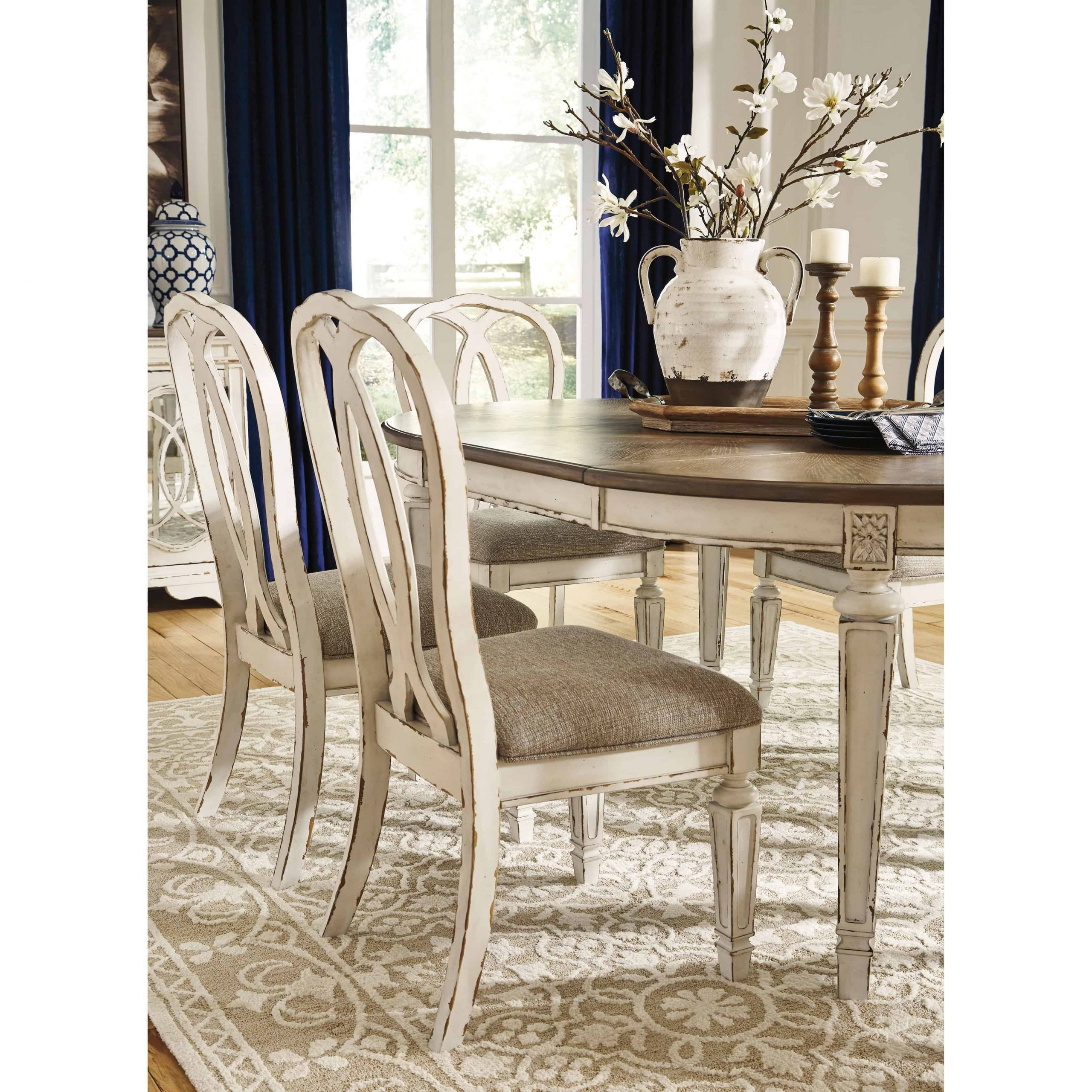 Realyn Oval Dining Room Extension Table | Furnishmyhome (View 14 of 15)