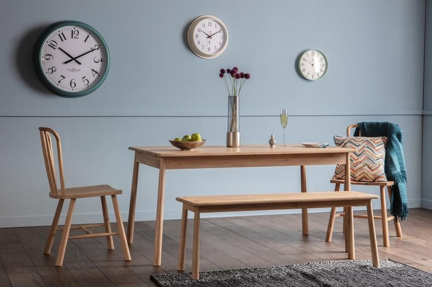 Rebecca Oak Dining Table | Dining Room Small, Light Oak For Most Recently Released Akito  (View 2 of 15)