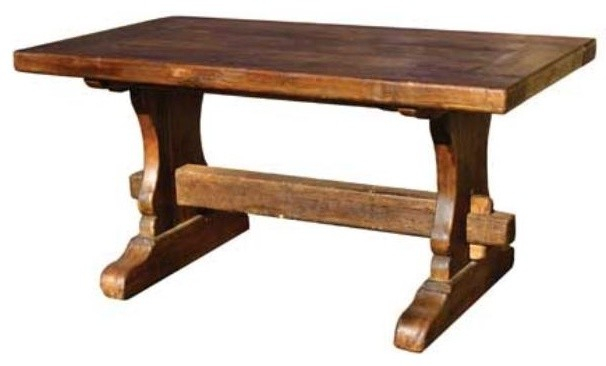 Reclaimed Dining Table \ Rectangle – Rustic – Dining Regarding 2018 Babbie Butterfly Leaf Pine Solid Wood Trestle Dining Tables (View 7 of 15)