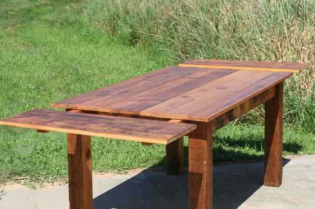 Reclaimed Pine Square Wood Extension Table Farmhouse In Best And Newest Aulbrey Butterfly Leaf Teak Solid Wood Trestle Dining Tables (View 9 of 15)