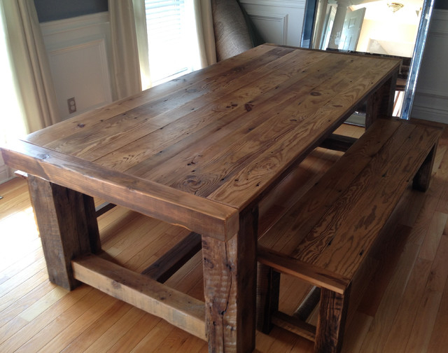 Reclaimed Wood Extension Table Intended For Newest Aulbrey Butterfly Leaf Teak Solid Wood Trestle Dining Tables (View 8 of 15)