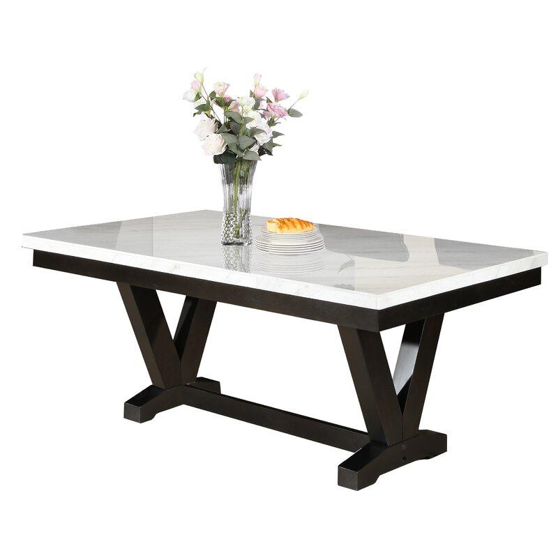 Red Barrel Studio Cedric Marble Top Dining Table | Wayfair In Most Up To Date Corrigan Studio Fawridge Dining Tables (View 6 of 15)