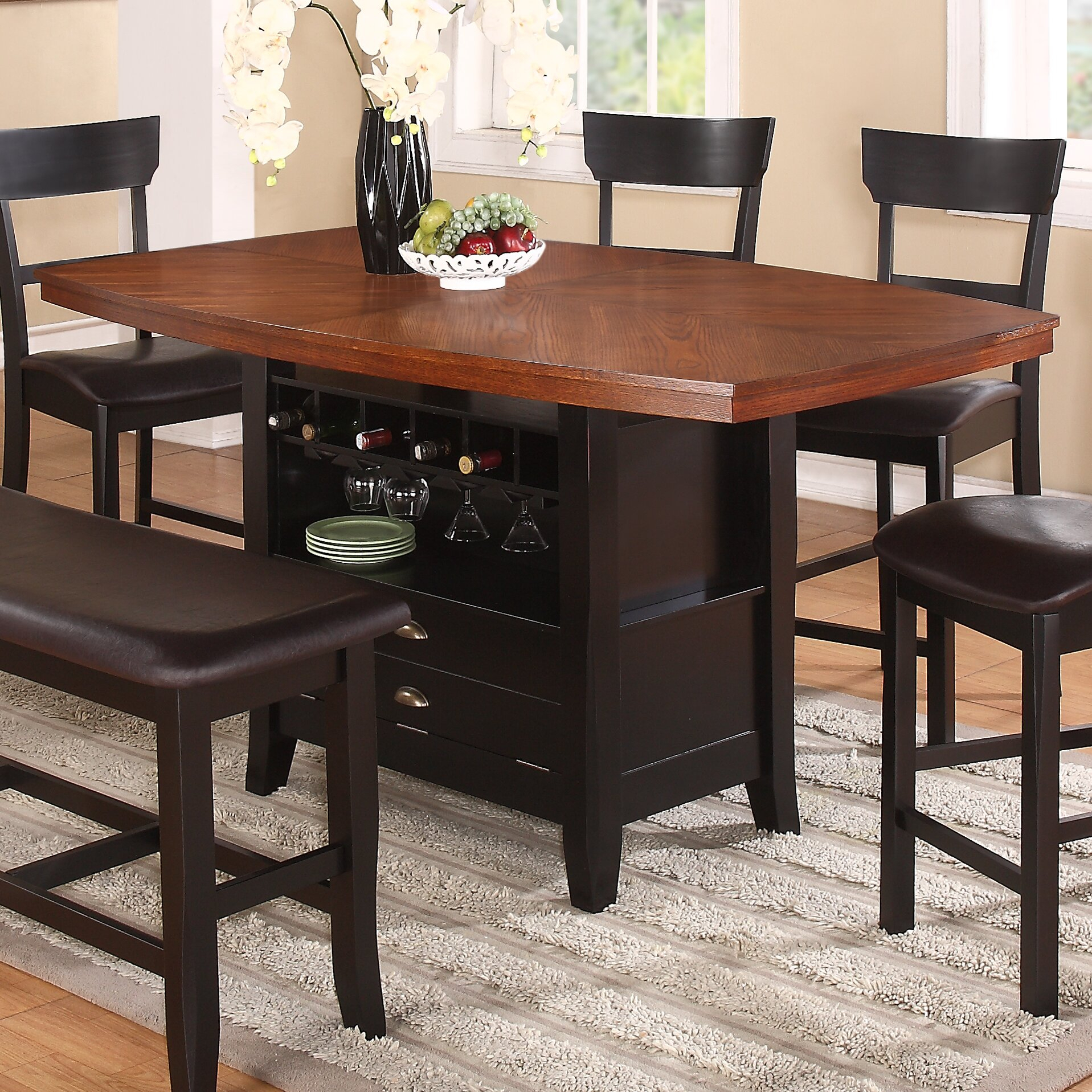Red Barrel Studio Wachusett Counter Height Dining Table For 2017 Desloge Counter Height Trestle Dining Tables (View 2 of 15)