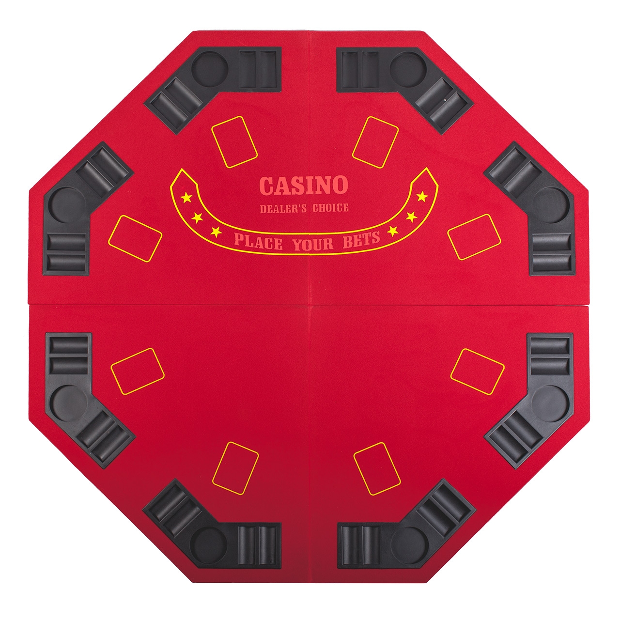 """Red Octagon 48"""" 8 Player Four Fold Folding Poker Table Top Pertaining To 2018 48"""" 6 – Player Poker Tables (View 2 of 15)"""