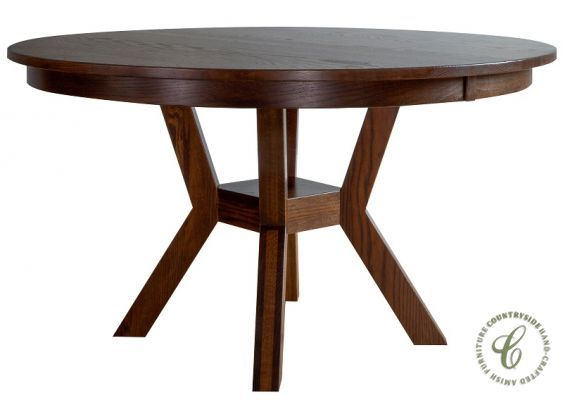 Regis Round Pedestal Kitchen Table | Dining Table In Pertaining To Recent Gaspard Extendable Maple Solid Wood Pedestal Dining Tables (View 13 of 15)