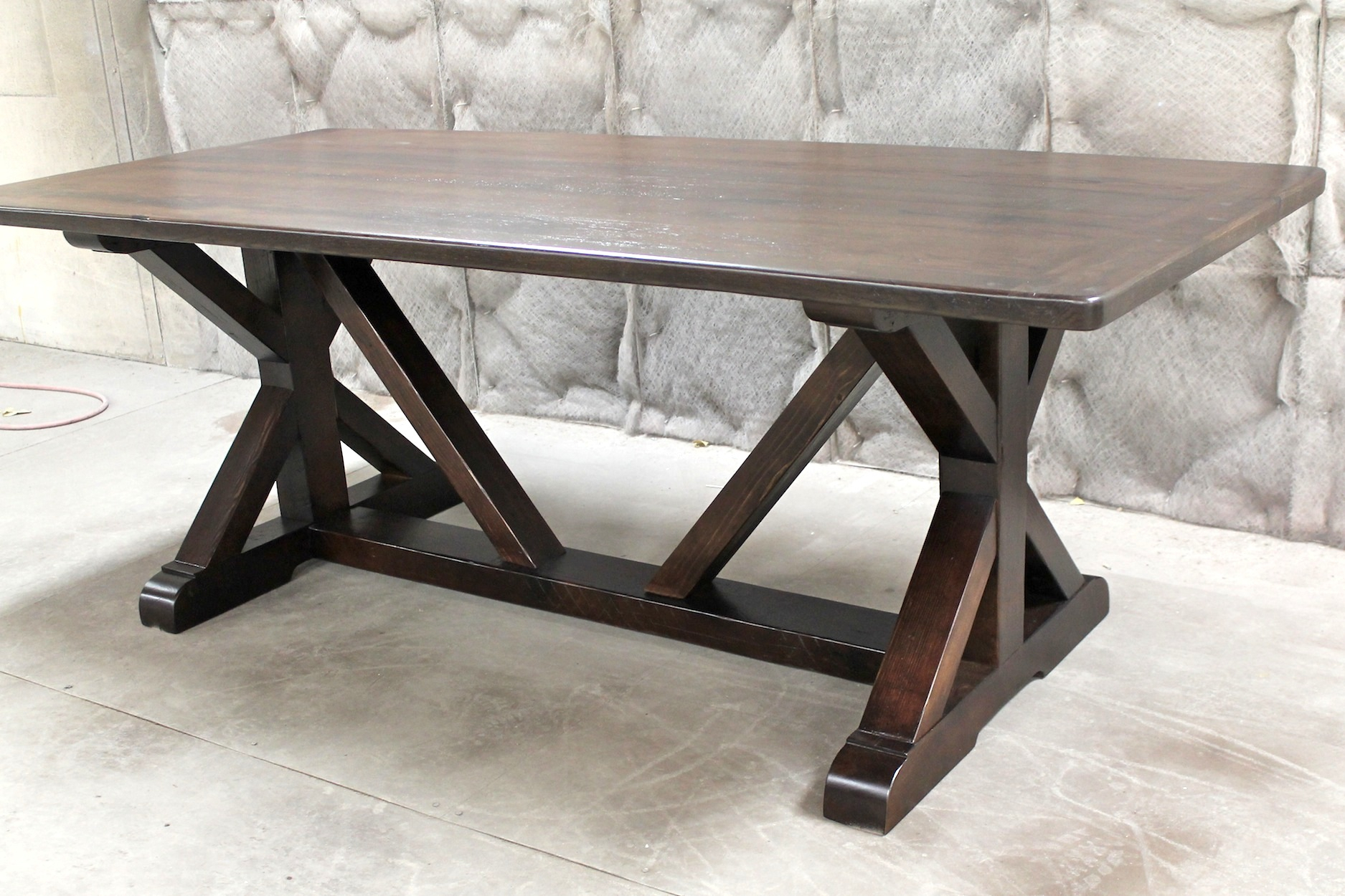 Restoration Hardware Inspired X Base Trestle Table With Regard To Most Popular Kara Trestle Dining Tables (View 11 of 15)