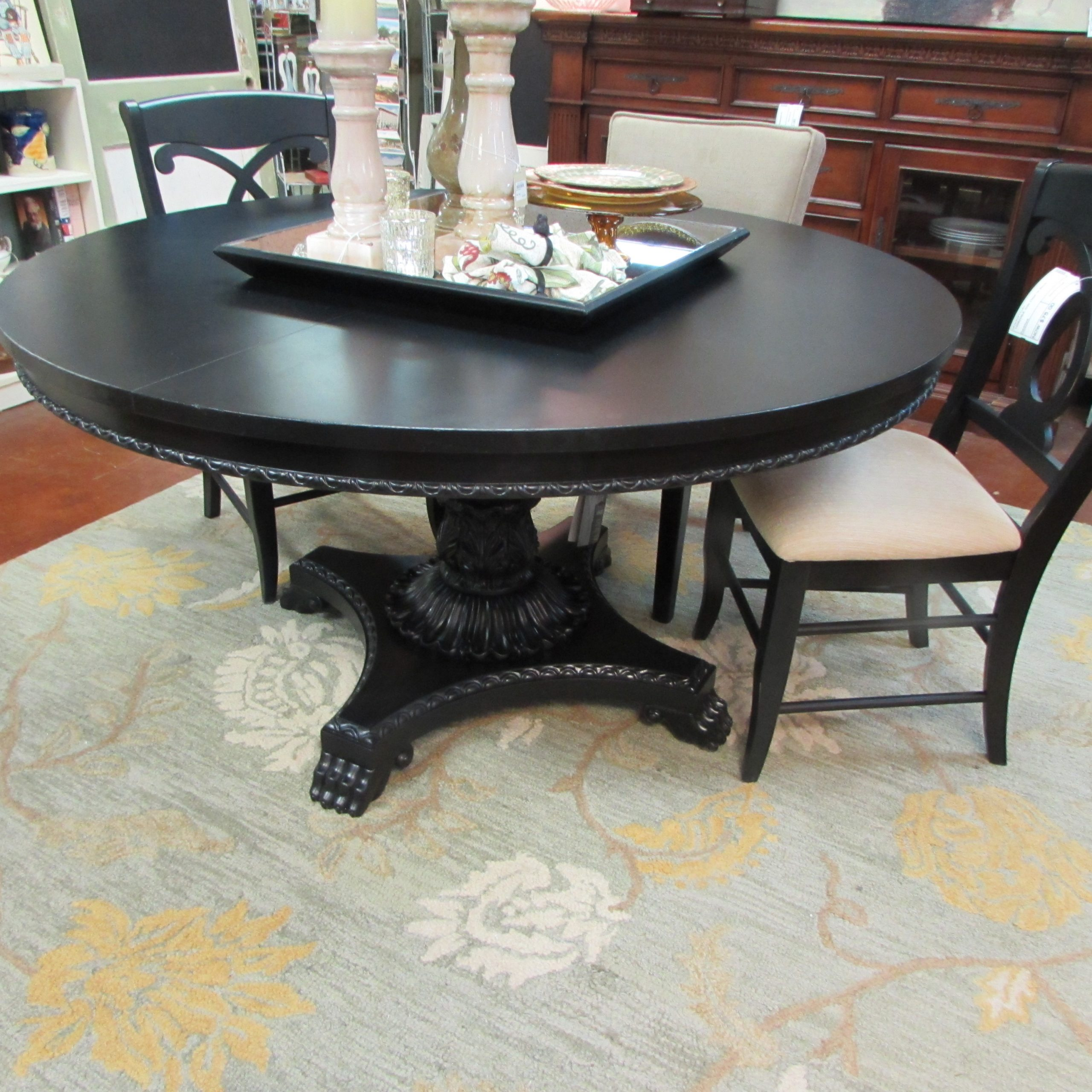 Restored Large Round Pedestal Dining Table On Awesome Base Intended For Most Current Villani Pedestal Dining Tables (View 8 of 15)