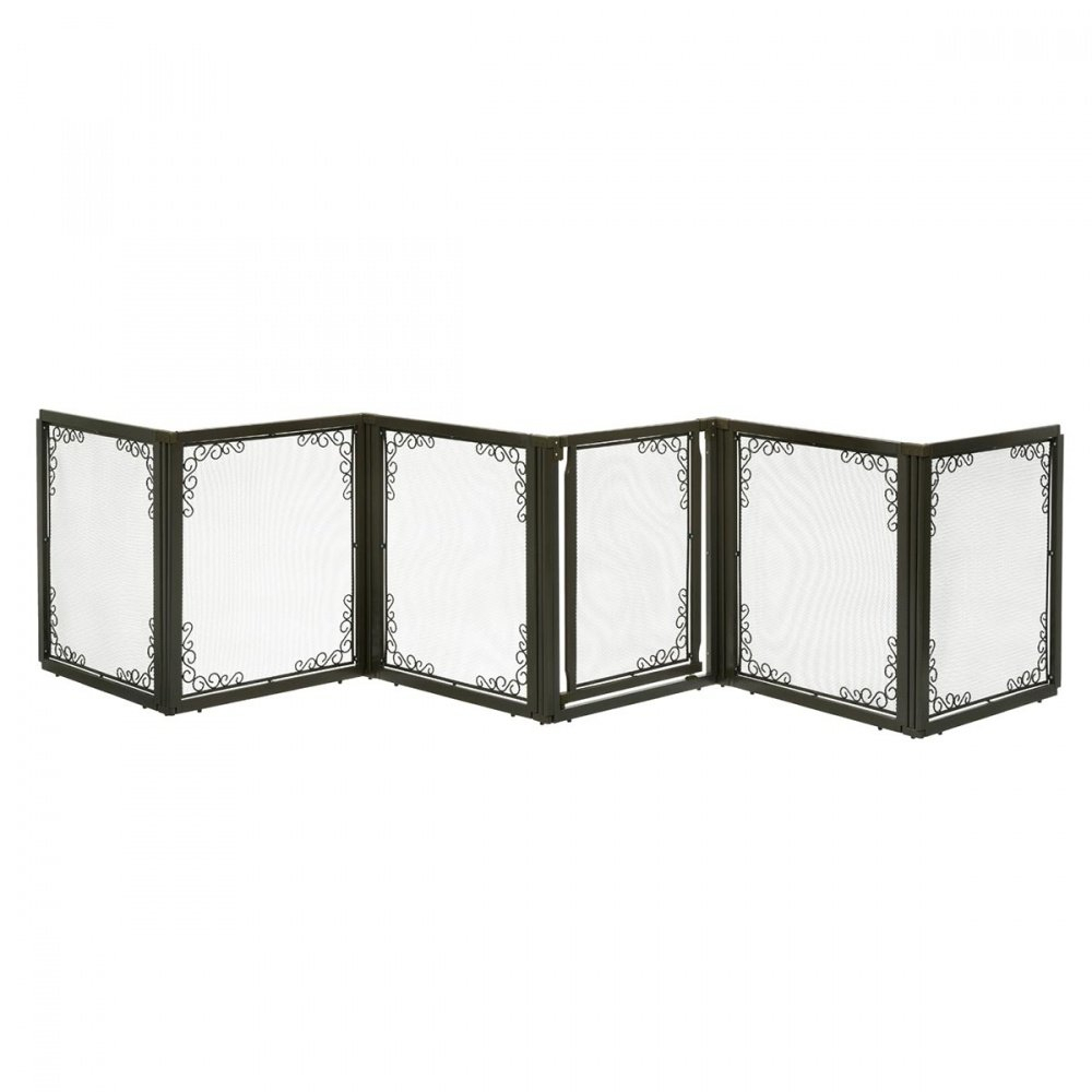 Richell Convertible Elite Mesh 6 Panels Brown Pet Gate Intended For Most Current Fromm  (View 4 of 8)