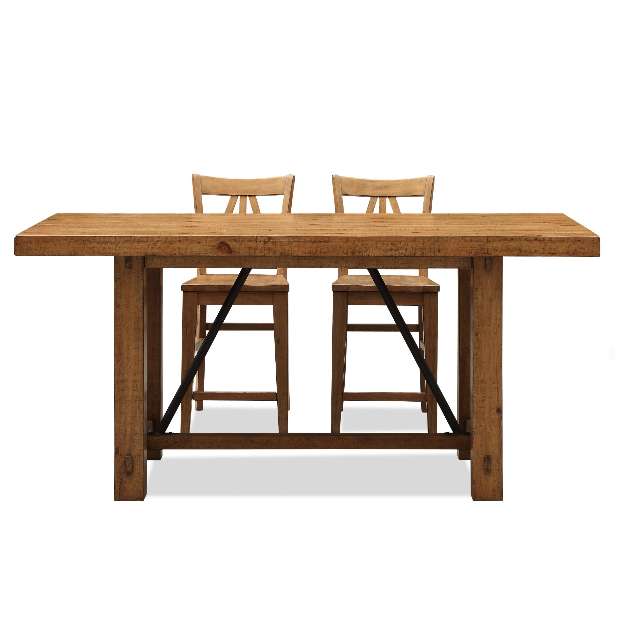 Riverside Summerhill Trestle Counter Height Dining Table In Best And Newest Romriell Bar Height Trestle Dining Tables (View 14 of 15)
