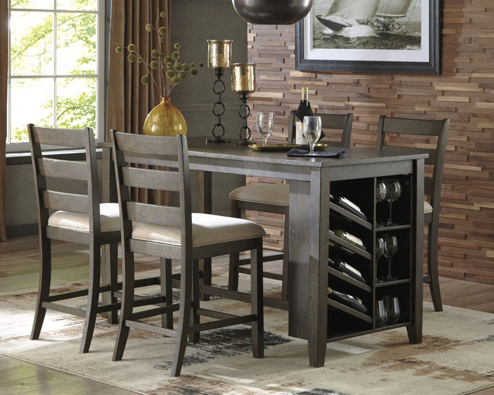 Rokane – Rect Counter Table W/Storage   D397 32   Storage In 2018 Cainsville 32'' Dining Tables (View 7 of 15)