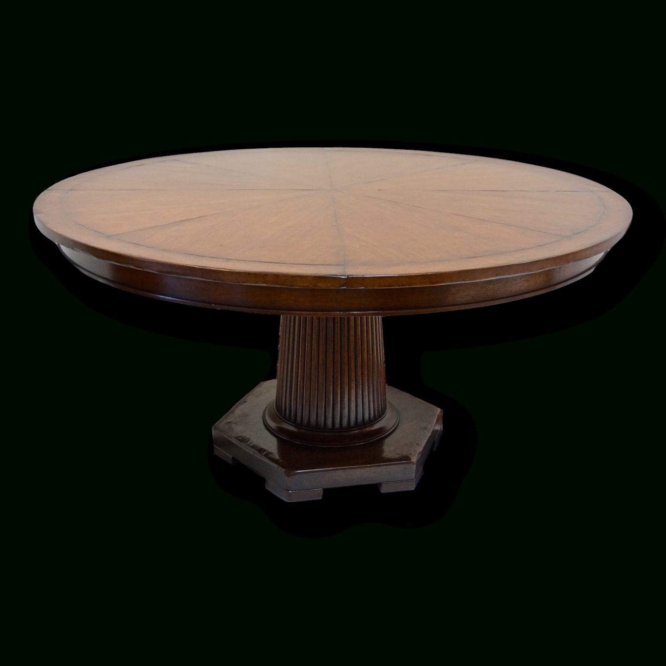 """Rose Tarlow 58"""" Round Mahogany Pedestal Dining Table In In Best And Newest Bineau 35'' Pedestal Dining Tables (View 2 of 15)"""