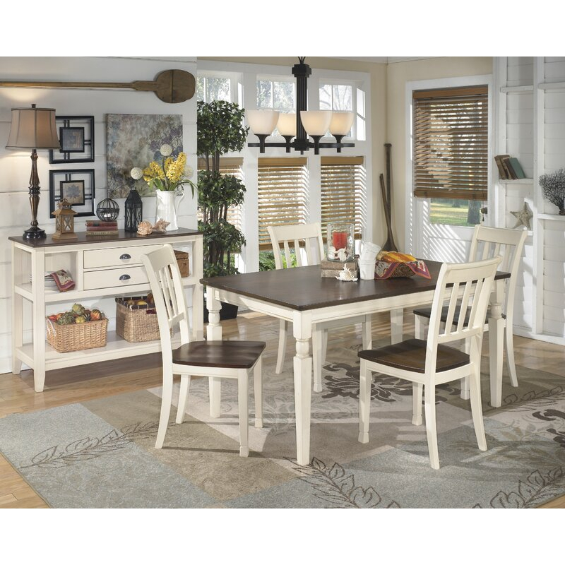 Rosecliff Heights Leamont 5 Piece Solid Wood Dining Set Throughout Current Leamont  (View 5 of 12)
