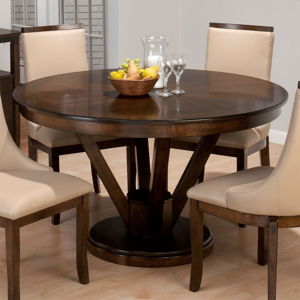 Round Glass Dining Table 42 Inches | Eksterior Throughout 2017 Neves 43'' Dining Tables (View 13 of 15)