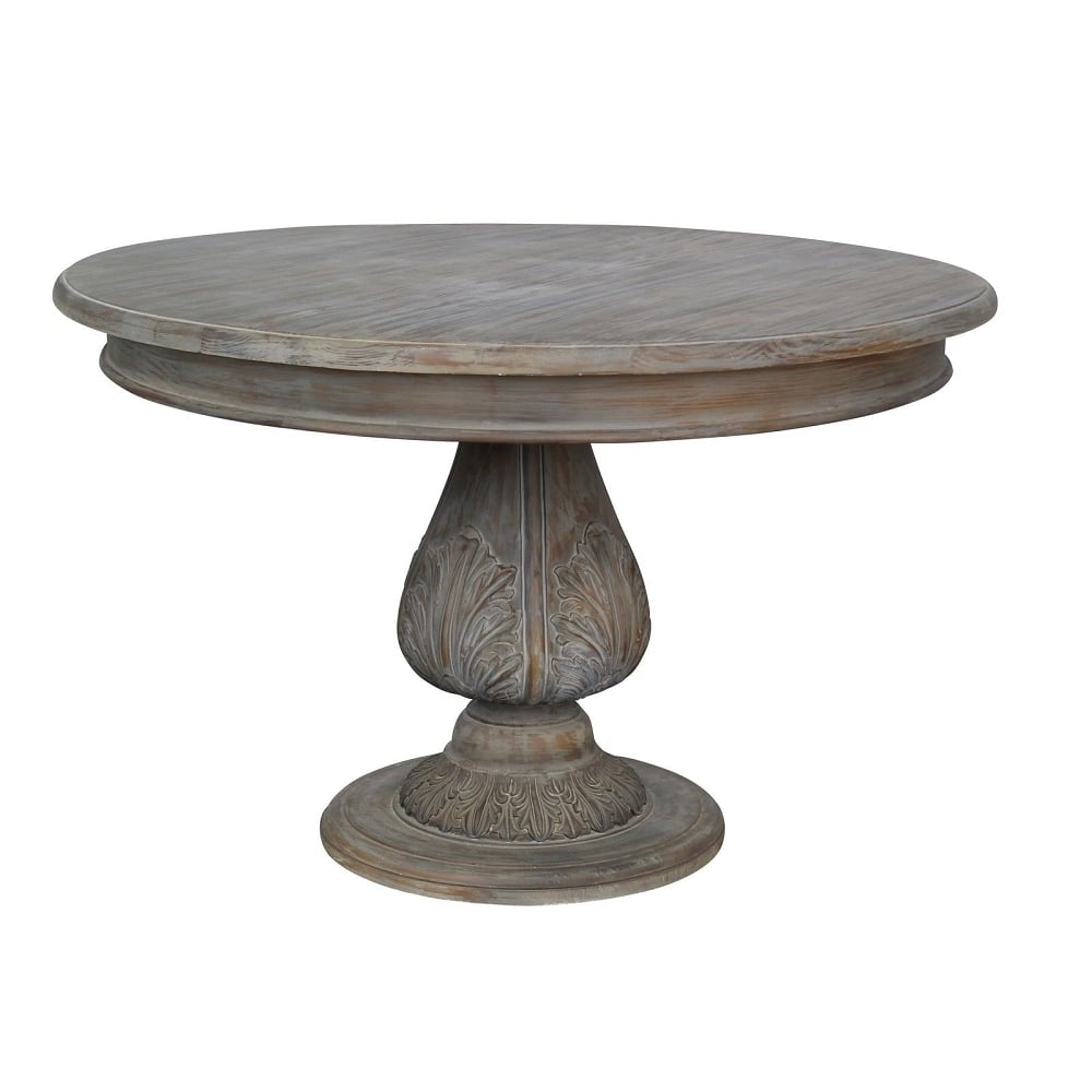 Round Pedestal Acorn Dining Table – Dining Room From Inside Current 28'' Pedestal Dining Tables (View 8 of 15)