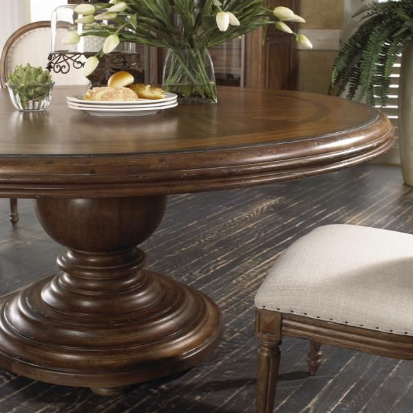 """Round Pedestal Dining Table 62"""" 