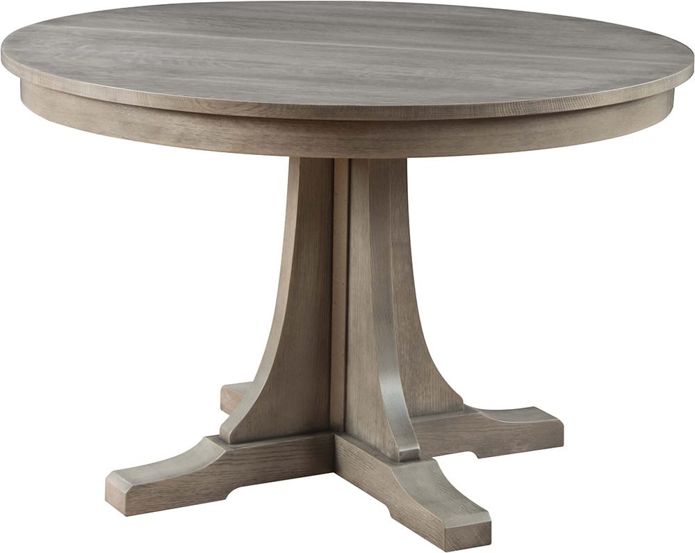 Round Pedestal Dining Table, Mission Collection – Stickley Regarding Most Current Canalou 46'' Pedestal Dining Tables (View 6 of 15)