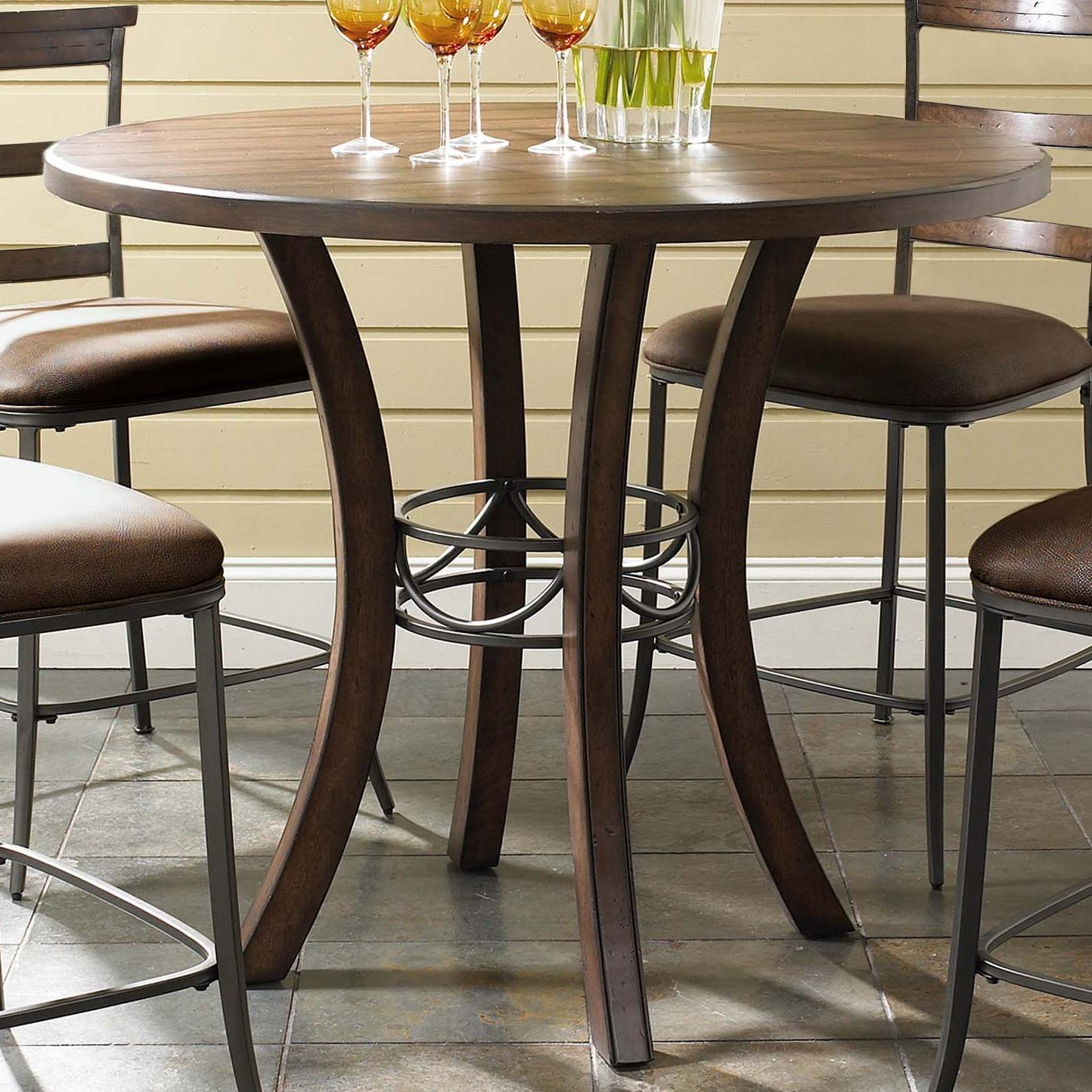 Round Wood Counter Height Tablehillsdale | Wolf And Within Most Current Barra Bar Height Pedestal Dining Tables (View 4 of 15)