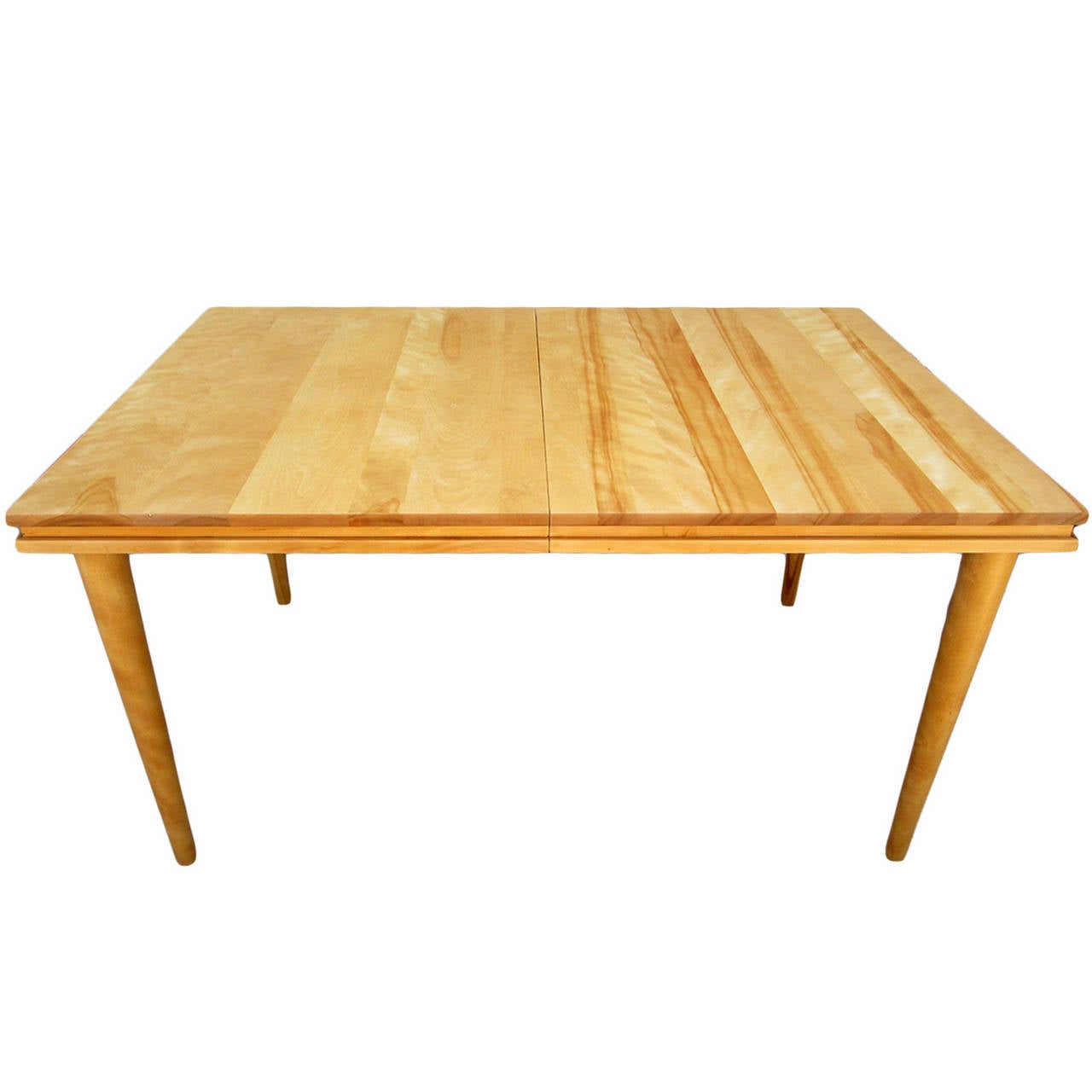 Russel Wright Solid Maple Dining Table At 1Stdibs Throughout Best And Newest Gaspard Maple Solid Wood Pedestal Dining Tables (View 7 of 15)