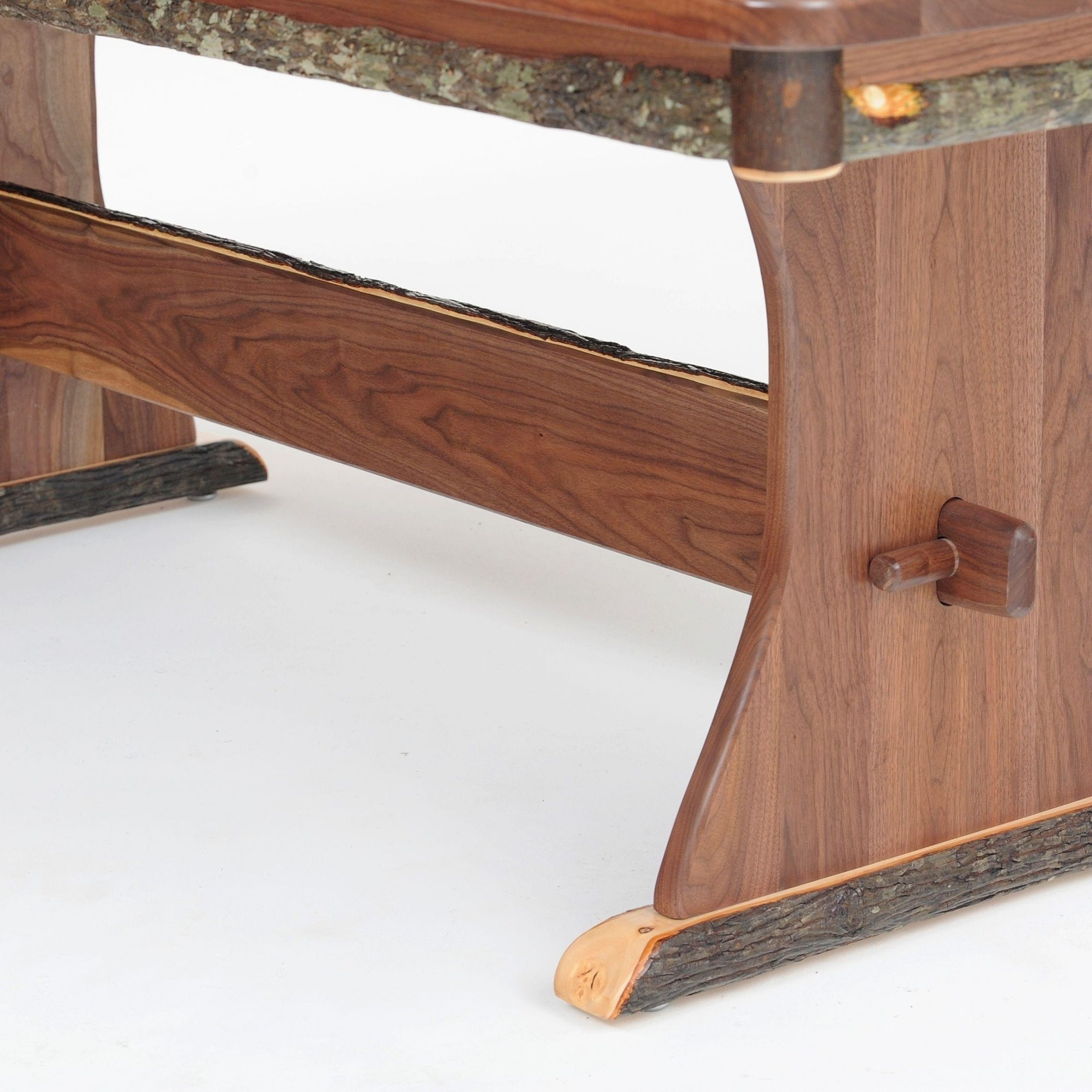 Rustic Trestle Dining Table, Log Furniture, Cabin Dinette Pertaining To Most Up To Date Kara Trestle Dining Tables (View 13 of 15)