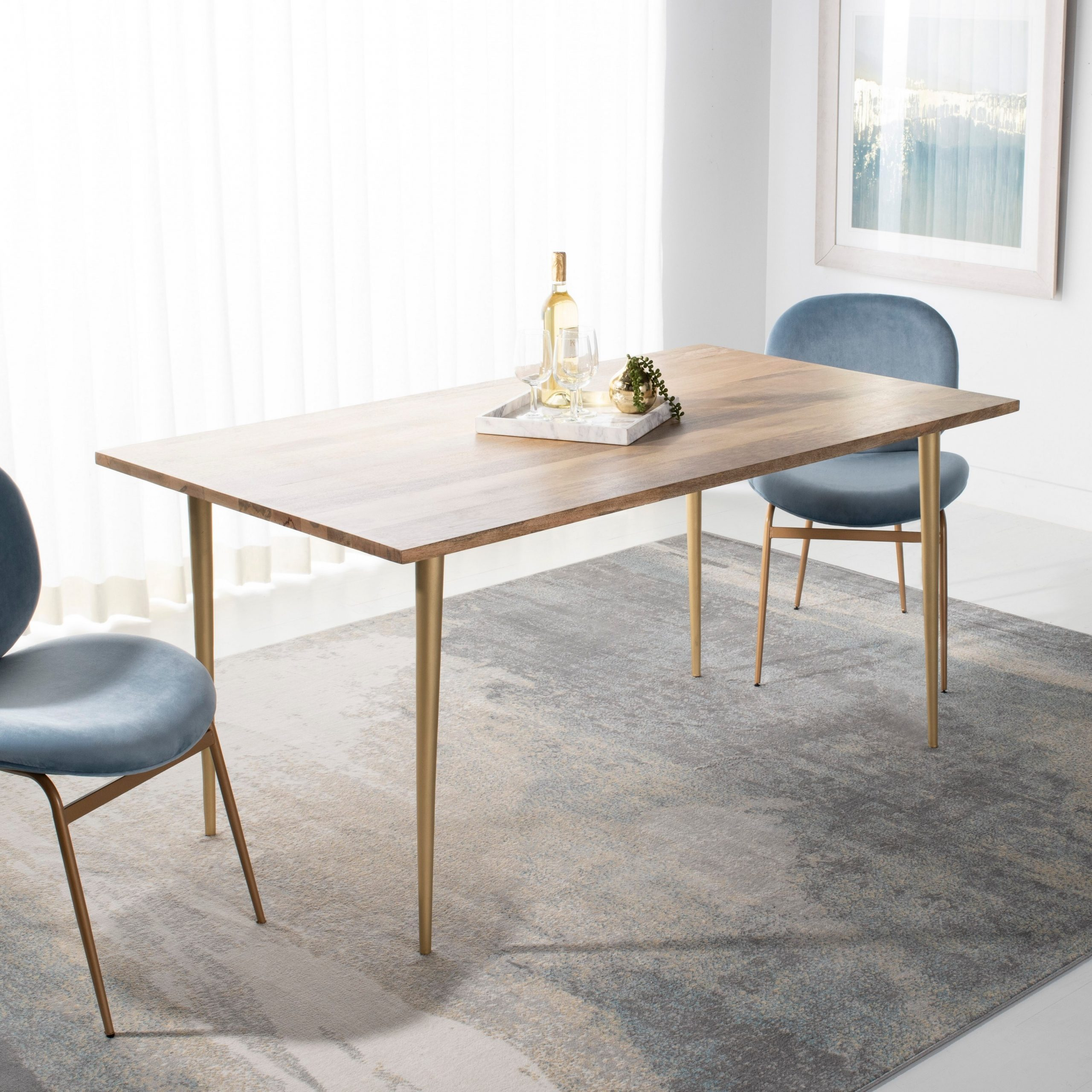 Safavieh Couture Stanley Wood Dining Table – Natural Intended For Most Recently Released Clennell  (View 2 of 15)